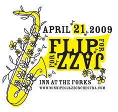 Created for the Winnipeg Jazz Orchestra in 2009 for a fundraising event. This was the logo created by Cats in the Bag design - Jennifer R. Cook.