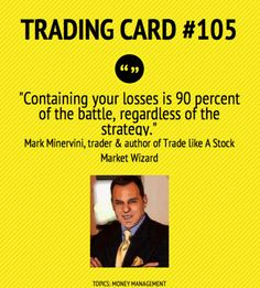 Trading Card #105: Find Out How To Win 90% Of The Battle by Mark Minervini