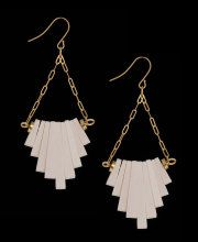 Jenny Bird Wooden Chevron Chandelier Earrings - I saw these in person today and fell in love...