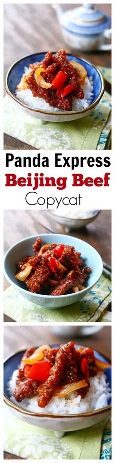 Express Beijing Beef Copycat – the most delicious Beijing Beef that tastes exactly like Panda Express, but healthier and much better than takeout Asian Recipes, Beef Recipes, Cooking Recipes, Healthy Recipes, Recipies, Beijing Beef, Panda Express Recipes, I Love Food, Good Food