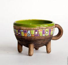 """Handmade ceramic bowl   Купить Чашка """"Мох"""" - керамическая посуда, керамика ручной работы, подарок, чашка из глины"""
