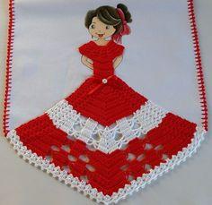 eu amo artesanato: panos de prato com bonequinhas de croché