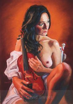 Amati - Paintings Musical Instruments, Violin, Musicals, Wonder Woman, Superhero, Figurative, Pastels, David, Paintings