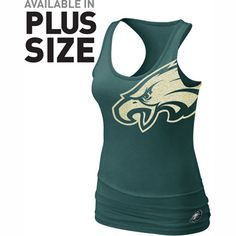 Philadelphia Eagles Women's Nike Tri-Blend Big Logo Tank Top