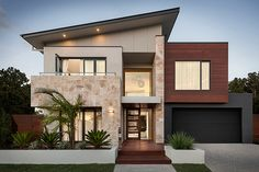 double story facade big windows timber - Google Search