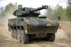 Patria AMV armed with or Gun