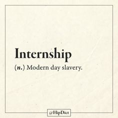 Internships are not the same as an apprenticeship. Old school apprentices were paid with room and board, experience, and sometimes a small salary. The only people who can afford an internship are people who are being financially supported by other means.