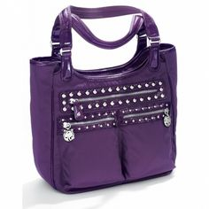 Brighton Collectibles Campbell Studded Tote in Loganberry 'Purple'!
