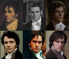 The many incarnations of Mr. Darcy