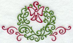 Fa La La Filigree Wreath design (E7690) from www.Emblibrary.com
