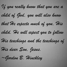 If you really know that you are a child of God, you will also know
