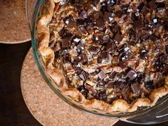 This pie ups the ante in the pecan pie game. It's full of a rich caramel custard and chock-full of pecans, with a healthy dose of chocolate to send it over the edge. With just a tiny hit of salt to balance out the sweet richness of the filling, this pie will be the one they talk about long after Thanksgiving.