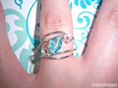 Learn how to make this pretty wire-wrapped ring.  So easy to do!