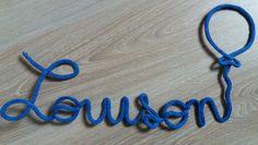 Prénom en tricotin Pom' de Reinette & Cie