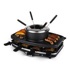 Entrecote Raclette Grill Stone Fondue 1100W 8 ppl