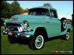 1956 GMC 100 Pickup 270 CI, I remember this truck from grandma k Fun childhood memories Old Pickup Trucks, Gm Trucks, Lifted Trucks, Cool Trucks, Diesel Trucks, Dually Trucks, Lifted Chevy, Station Wagon, Pick Up