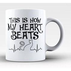 Cat Mug - This Is How My Heart Beats  #catlovers #kittens #catlove #feline #cats