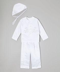 Loving this White & Silver Cross Five-Piece Vest Set - Infant, Toddler & Boys on #zulily! #zulilyfinds