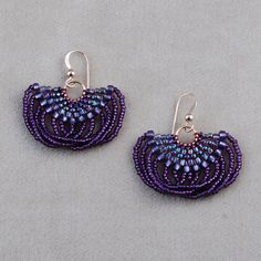 Looplicity Brick Stitch Earrings from Caravan Beads