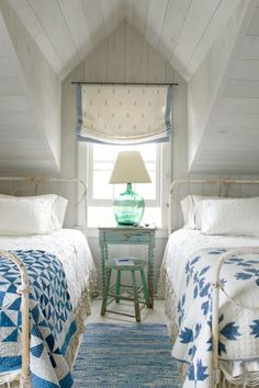 Help loosen up a traditional bedroom by adding mismatched quilts.