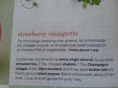 Strawberry vinagrette