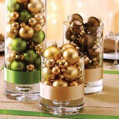 Centros de mesa navideños DIY fáciles de hacer