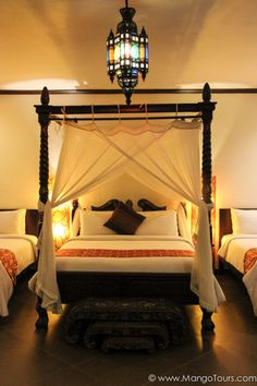 A bed that feels so regally Balinese.