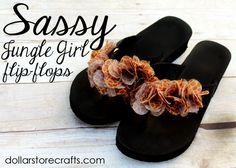 lei flip flops tutorial jungles, idea, crafti craft, flipflop diy, diy with flip flops, diy accessories, dollar store crafts, diy flipflop, craft blogs