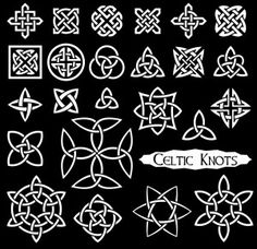 Buy 24 Celtic Knots by polosatik on GraphicRiver. 24 Celtic knots isolated on black background Celtic Knot Meanings, Celtic Knot Designs, Irish Symbols And Meanings, Design Celta, Stencil, Culture Art, Celtic Patterns, Celtic Art, Celtic Dragon