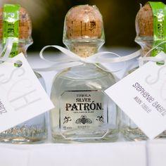 Mini patron escort cards & wedding favors   Sandra Tenuto Photography