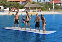 Splashmat... Holds up to 8 people this would be awesome for the lake! Probably a lot easier to put in & out compared to a traditional float!