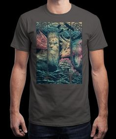 """""""Game of Animals"""" is today's £8/€10/$12 tee for 24 hours only on www.Qwertee.com Pin this for a chance to win a FREE TEE this weekend. Follow us on pinterest.com/qwertee for a second! Thanks:)"""