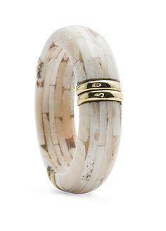 Buffalo bone bracelet. Love.