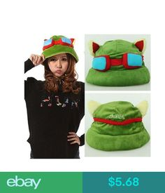 Video Game Merchandise Hot Plush Suit Style Cool Cute Cosplay Green League Of Legends Lol Teemo Hat #ebay #Electronics