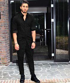 BlackBlack  www.reza-style.com & @reza__01 #rezastyle #mensstyle #mensfashion #menswear # fashion #streetstyle #outfit