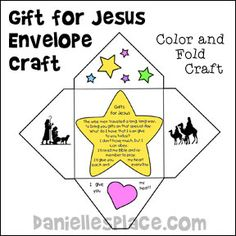 Easy Christmas Craft - Gift for Jesus Envelope Craft for Kids from www.daniellesplace.com