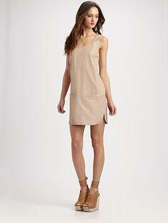 Vince - Lamb Leather Tank Dress