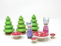 Wooden Mushrooms-assorted sizes Gnome accessory wooden