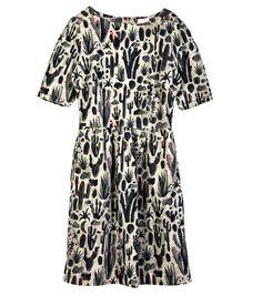 Gorman Online - Desert Nights Cord Dress fit and flare shape  - gentle pleat from waist  - knee length  - centre back zip fastening  - inner lining
