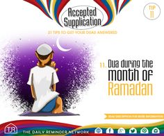 Tip - Dua during the month of Ramadan. Daily Reminder, Quotes About God, Trust Yourself, Ramadan, Weapon, Quran, Forgiveness, Muslim, Allah