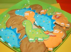 Cute cookies at a Dinosaur Party #dinosaurparty #cookies