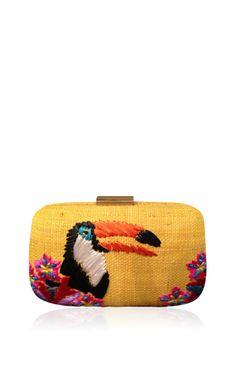Tucan Minaudiere In Straw by Serpui Marie for Preorder on Moda Operandi