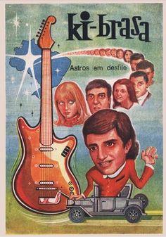 ALBUM DE FIGURINHAS - KI-BRASA - com fotos dos cantores da JOVEM GUARDA e BOSSA NOVA - A TURMA DO IÊ IÊ IÊ