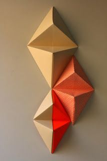 So in heart with. Origami Wall Art, Instruções Origami, Origami Wedding, Origami And Kirigami, Origami Paper Art, Modular Origami, Diy Paper, Paper Crafts, Ideas Origami