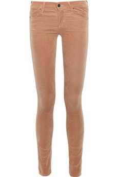 Citizens of Humanity  Avedon low-rise velvet skinny jeans| I've been wanting some this color! A fall must have