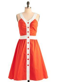Orange You Glad Dress - I'm still in the market for an orange dress Tangerine Dress, Orange Dress Summer, Orange You Glad, Retro Vintage Dresses, Vestidos Vintage, Retro Dress, Cute Dresses, Summer Dresses, Unique Dresses