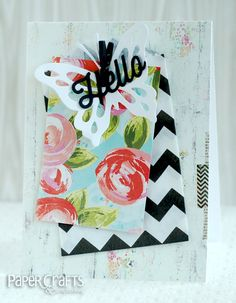 Black and white is trending, especially when it plays a supporting role as seen here; Betsy Veldman - Paper Crafts & Scrapbooking blog: hello, watercolor, flowers, trend