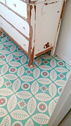 Self-adhesive vinyl floor tiles from Mirth Studios