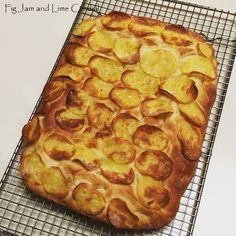 Potato Crisp Focaccia   Fig Jam and Lime Cordial