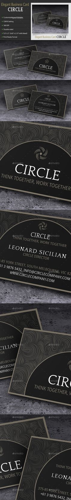 Elegant Business Card – Circle